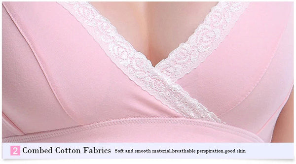 Woman's No rims 100% Cotton Bra - Simple and comfortable wire free bra lingerie -  bras - GALVATION