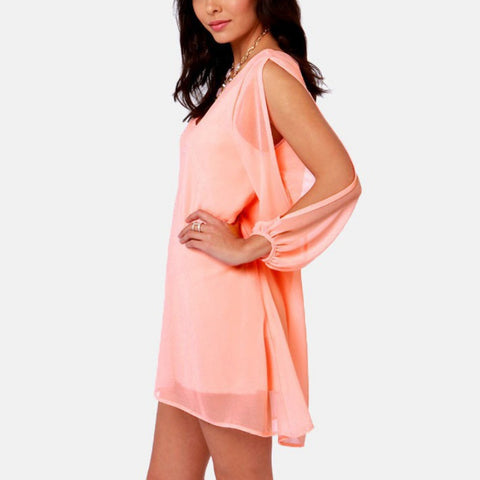 Summer Party Sexy Chiffon Dress - Long Sleeve Beach  V-neck Dress -  dress - GALVATION