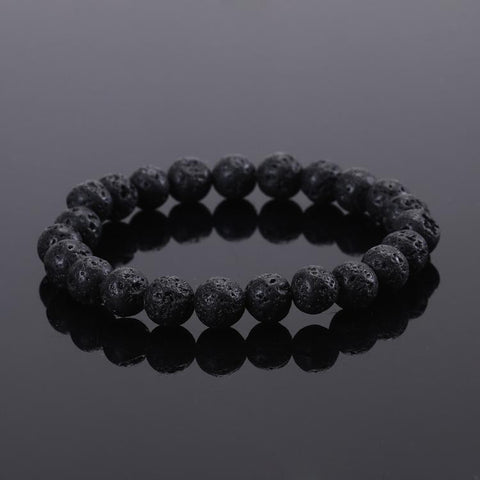 Black Lava Energy Stone Bracelet -  Bracelet - GALVATION