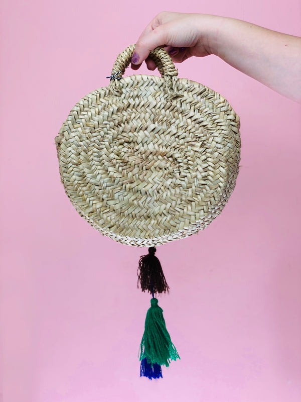 Tassel Straw Bag #1