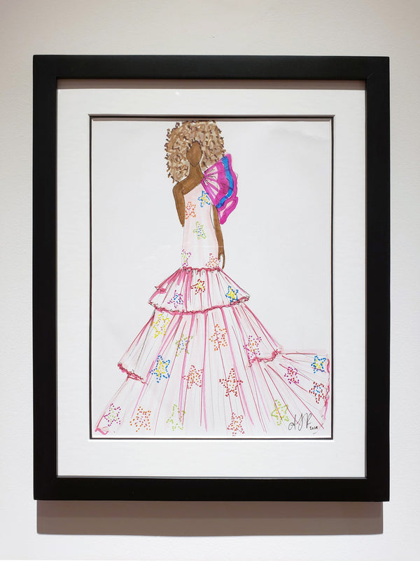 Amanda Perna Original Custom Fashion Illustration
