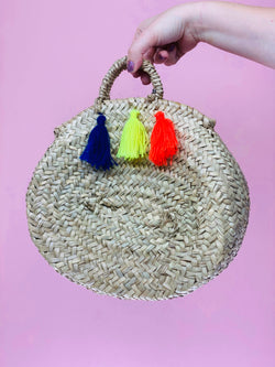 Tassel Straw Bag #6