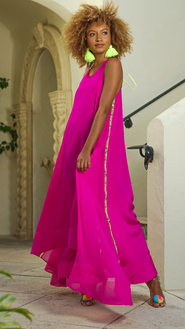 Carrie Silk Maxi Dress MADE TO ORDER