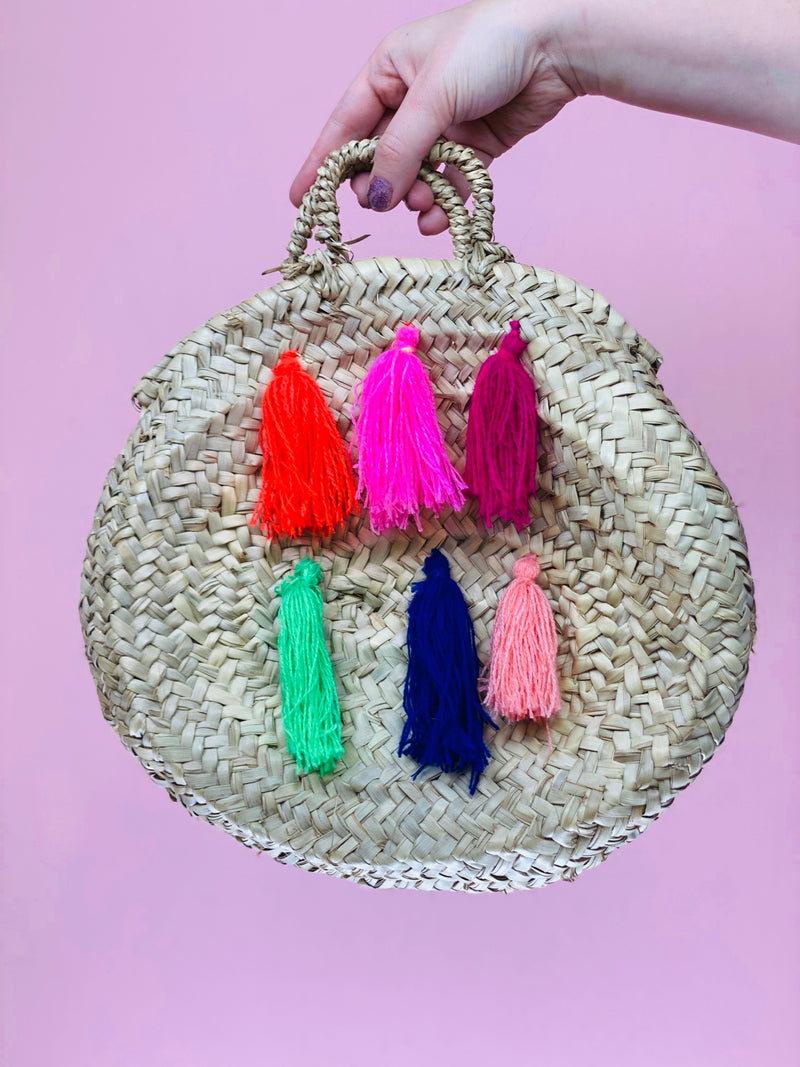 Tassel Straw Bag #4