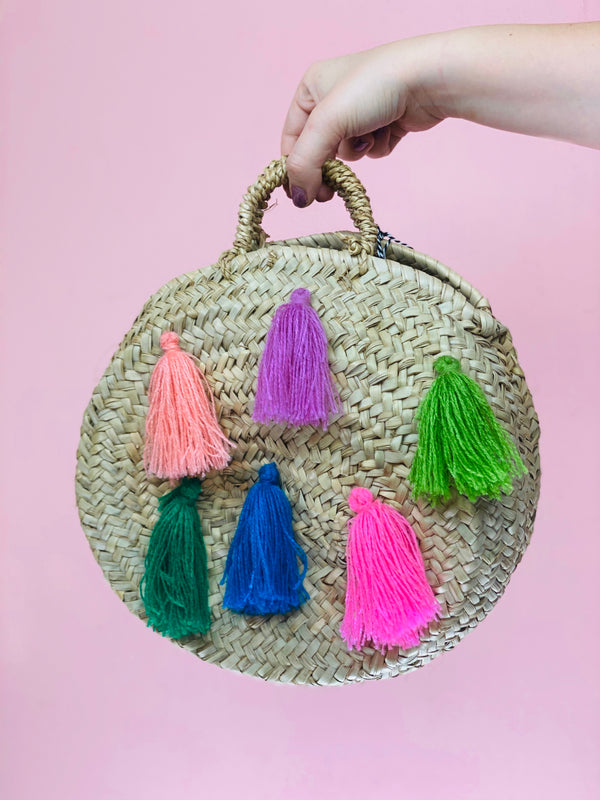 Tassel Straw Bag #5