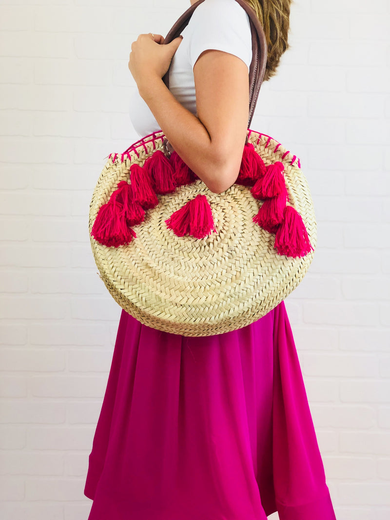 Shelby Tassel Circle Bag