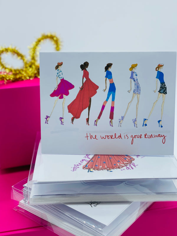 Runway Fashion Note Card
