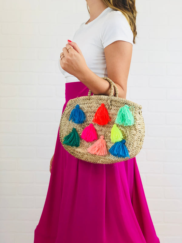 Megan Small Straw Bag