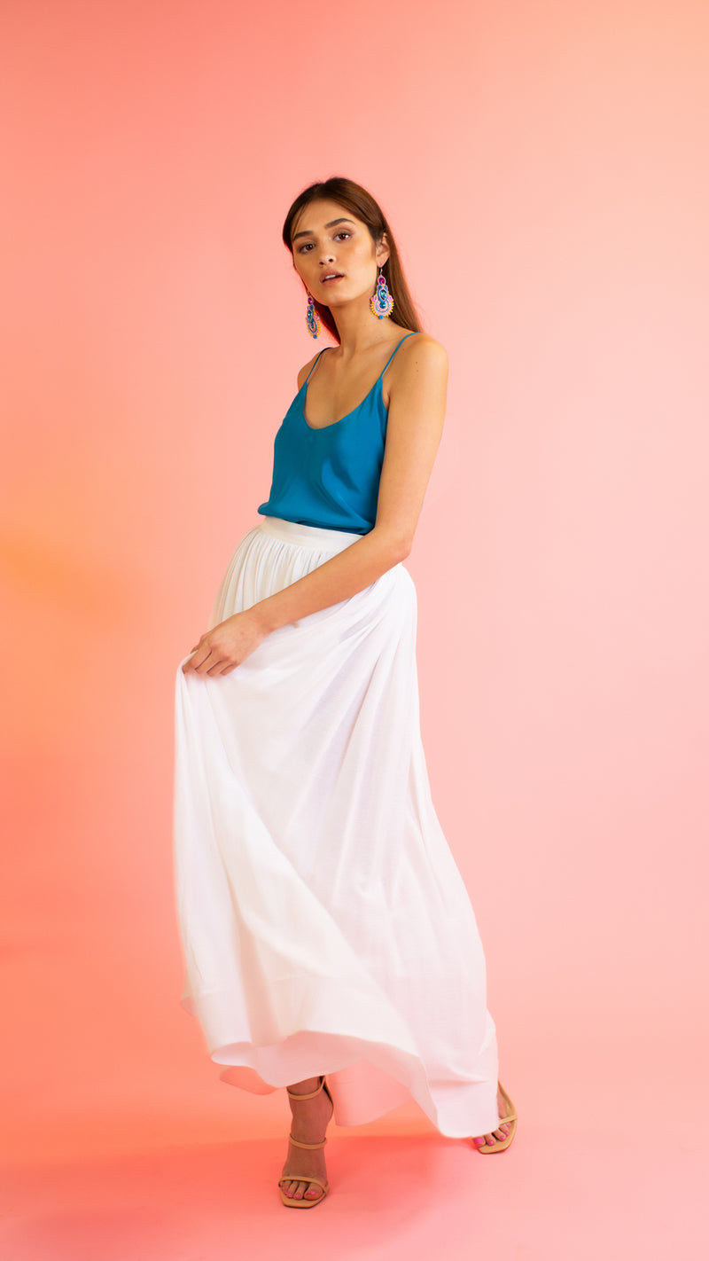 Joanna High-Low Maxi Skirt