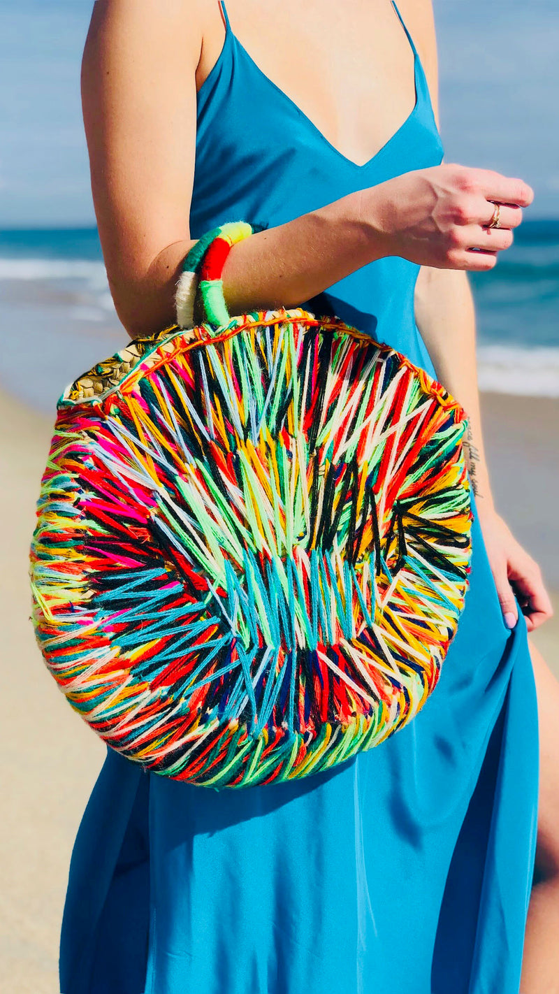 Fiona Multicolor Round Bag