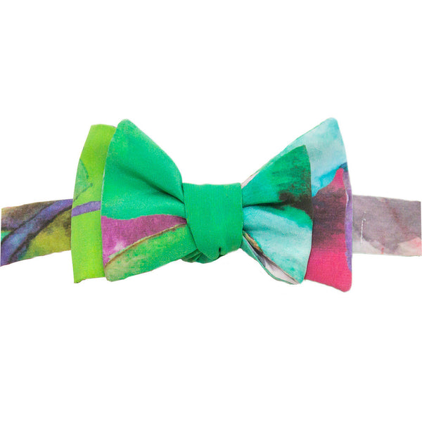 Watercolor Floral Bowtie