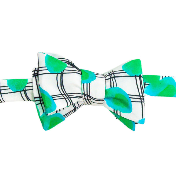Dot Plaid Bowtie