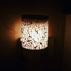 Silver mosaic  plug in warmer