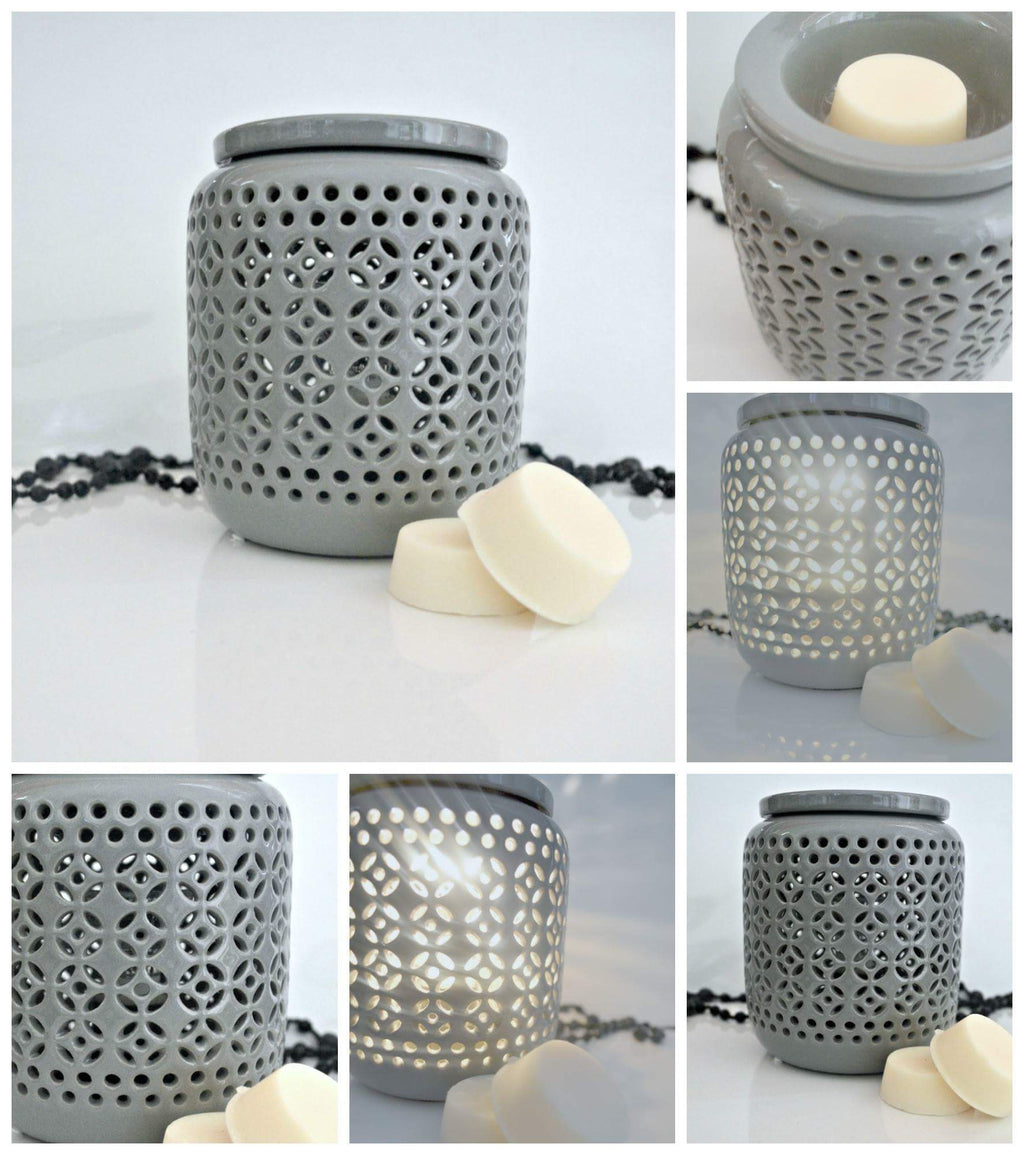 Grey ceramic melt warmer