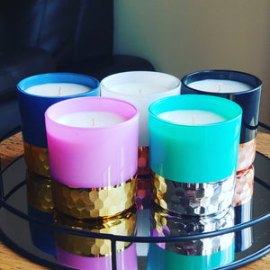 Hammered vogue candles