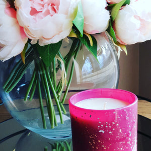 Speckled collection candles