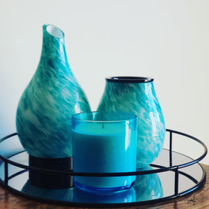 Blue vogue candle