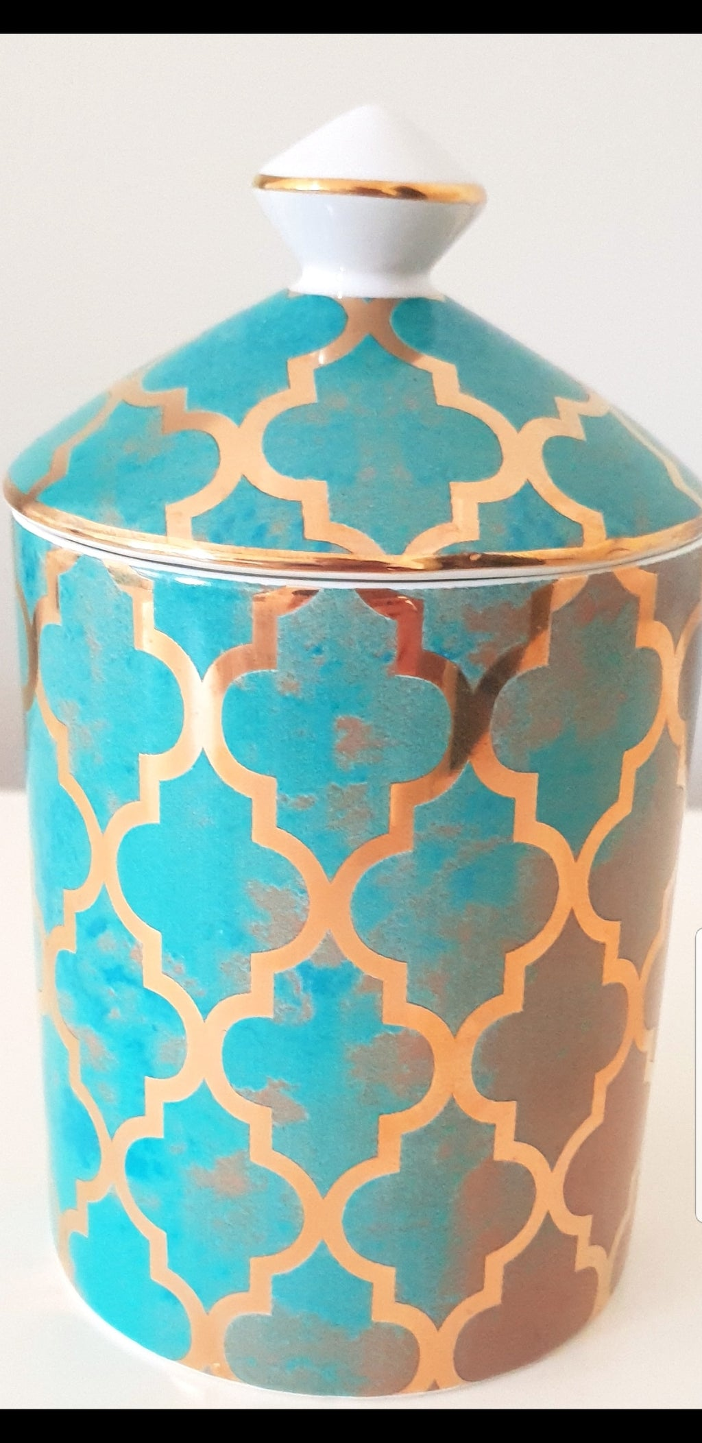 turquoise, soy candle , candle afterpay, candles zippay, foil print, home decor
