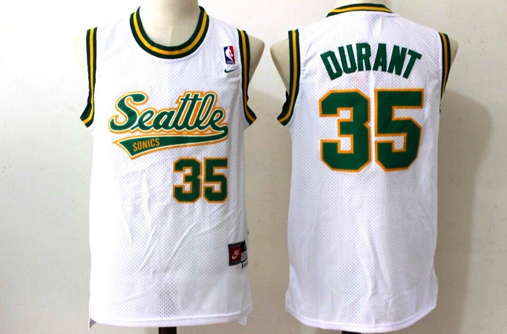 Throwback Kevin Durant #35  Jersey