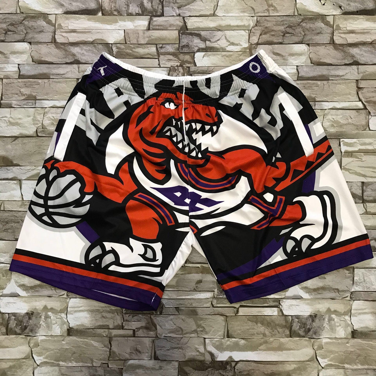 Throwback Raptors shorts