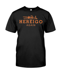 Here I Go Again (Hermes Design) Black Tee