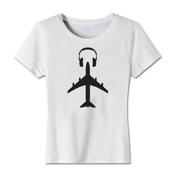 """Travel is the New Club"" Ladies Jersey White Tee"