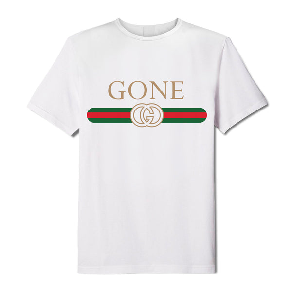 """GONE"" Jersey White Tee"