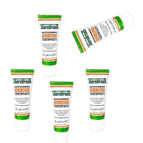 Therabreath Toothpaste 5 Pack for Fresher Breath