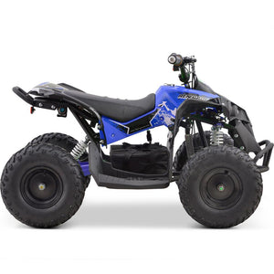 MotoTec 36v 500w Renegade Shaft Drive Kids ATV Blue