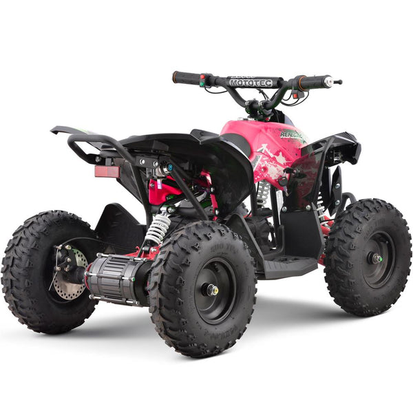 MotoTec 36v 500w Renegade Shaft Drive Kids ATV Pink