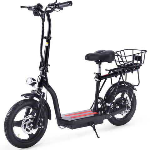 MotoTec Cruiser 48v 350w Lithium Electric Scooter Black
