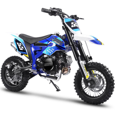 MotoTec Hooligan 60cc 4-Stroke Gas Dirt Bike Blue