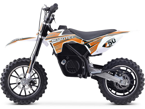 MotoTec 24v 500w Gazella Electric Dirt Bike Orange