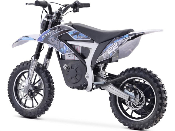 MotoTec 36v 500w Demon Electric Dirt Bike Lithium Blue