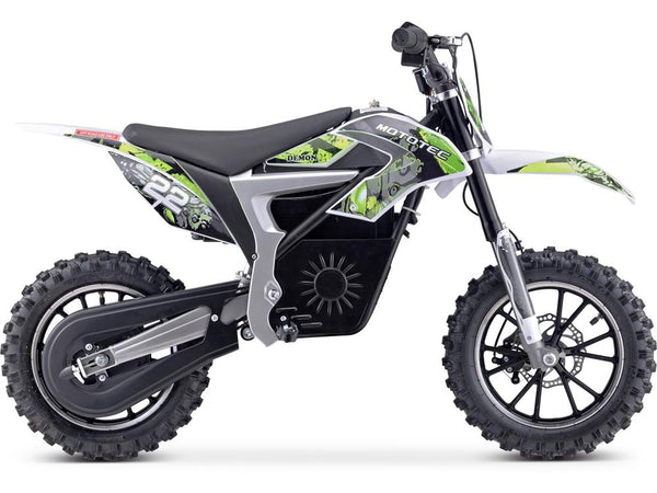 MotoTec 36v 500w Demon Electric Dirt Bike Lithium Green