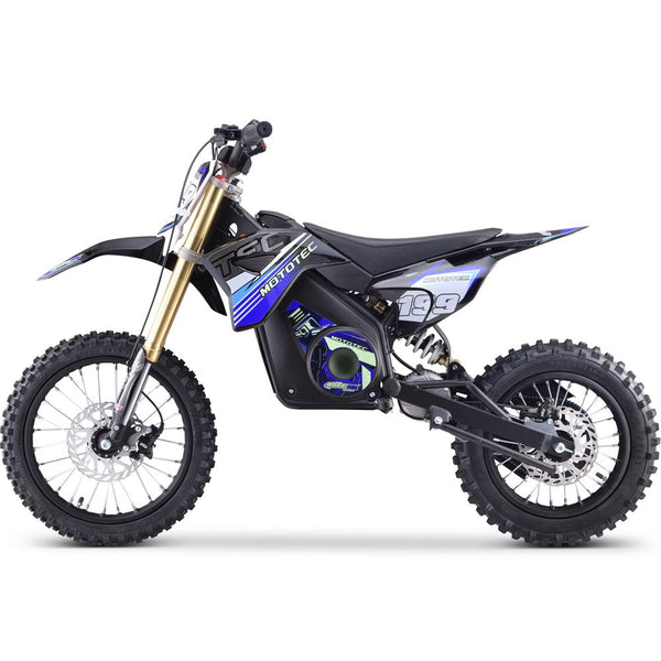 MotoTec 48v Pro Electric Dirt Bike 1500w Lithium Blue