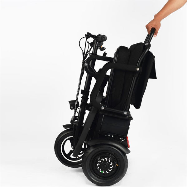 MotoTec Folding Mobility Electric Trike 48v 700w Dual Motor Lithium Black