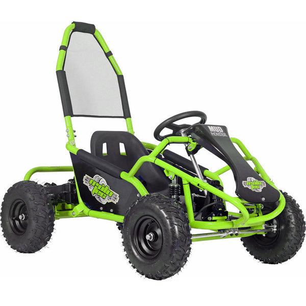 MotoTec Mud Monster Kids Gas Powered 98cc Go Kart Full Suspension Green