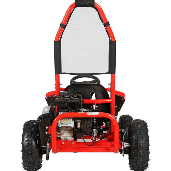 MotoTec Mud Monster Kids Gas Powered 98cc Go Kart Full Suspension Red