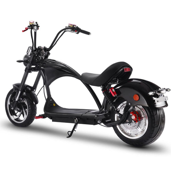 MotoTec Lowboy 60v 20ah 2500w Lithium Electric Scooter Black