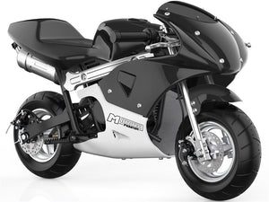 MotoTec Phantom Gas Pocket Bike 49cc 2-Stroke Black
