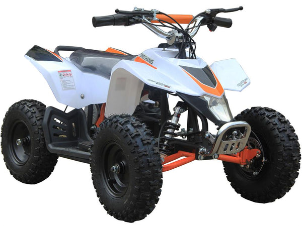 MotoTec 24v Kids ATV v3 White