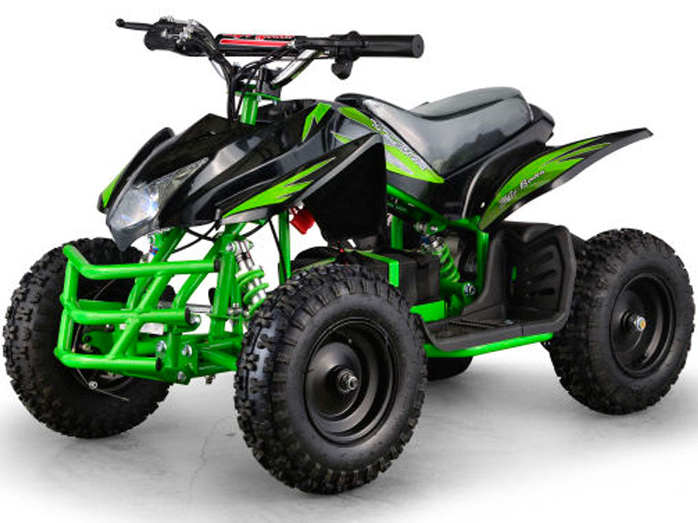 MotoTec 24v Kids ATV Titan v5 Black/Green