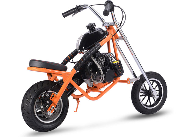 MotoTec 49cc Gas Mini Chopper Orange