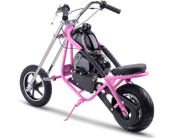 MotoTec 49cc Gas Mini Chopper Pink