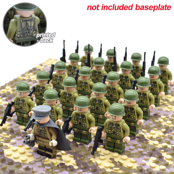 21 piece set WW2 Army Military Building Blocks IN STOCK!! Lego Compatible