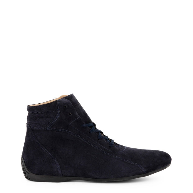 Sparco Monza | Navy Blue Suede High Top Sneakers