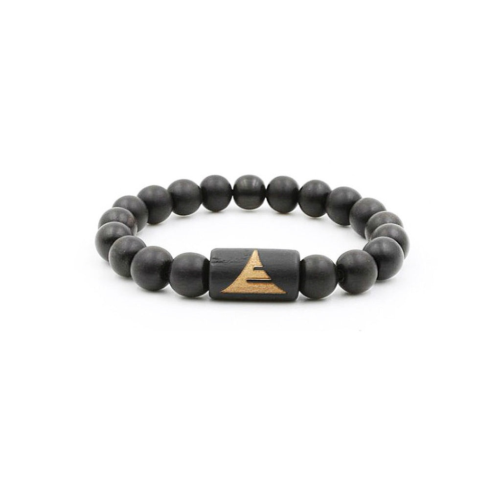 All Black Ebony Wood | Beaded Bracelet
