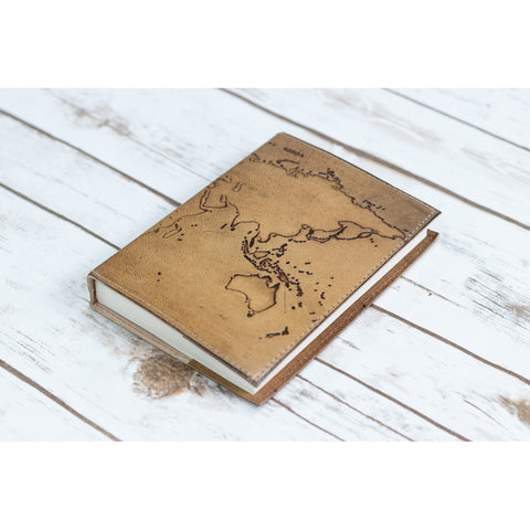 Refillable World Map Handmade Leather Journal