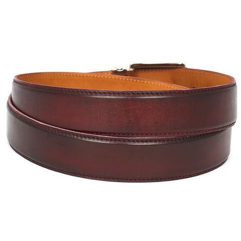 Paul Parkman | Leather Belt in Dark Bordeaux